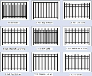 Aluminum Fence Carolina Beach Styles