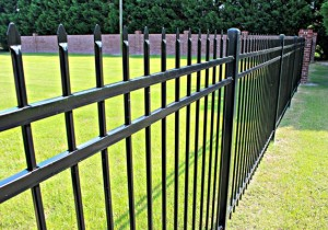 5ft Aluminum Fence Black Crimp Picket